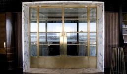 The Sugar Club brass doors in Metalier liquid metal